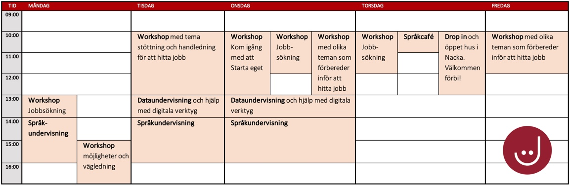 schema vecka 15